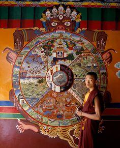 The Tibetan Wheel of Life- Samsara.
