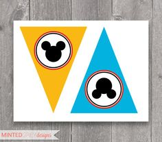 Printable Mickey Mouse Clubhouse Happy Birthday Banner. $12.00, via Etsy.