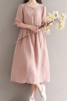 Herraje de Mujer Suelto sobre Lino Talla Grande Vestido Túnica Larga embarazada maternidad | Ropa, calzado y accesorios, Ropa para mujer, Vestidos | eBay!