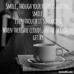-- LyricArt for Smile by Charlie Chaplin