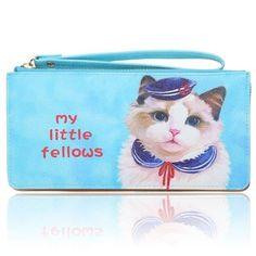 Cute Cat Women Girls Animal Prints Clutch Long Wallet