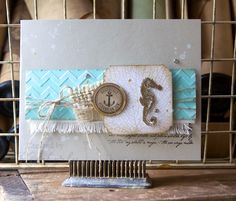 Adding Texture to a Card, By the Tide Kimberly Van Diepen, Stampin' Up!