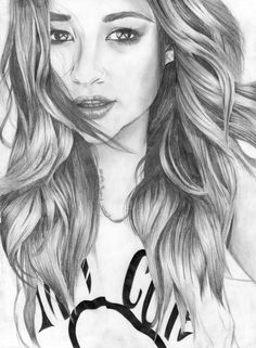 Pretty Little Liars : Shay Mitschell - Emily Fields Face Sketch, Sketch A Day, Pll, Emily Fields, Pretty Little Lairs, Celebrity Drawings, Shay Mitchell, Cool Sketches, Film Serie