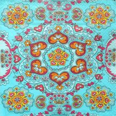 Servítka - tyrkysové ornamenty