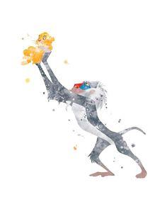 Rafiki and Simba Print Lion King Printable Disney Print Watercolor Art Print Wall Art Poster Nursery Cute Emoji Wallpaper, Disney Phone Wallpaper, Cute Wallpaper Backgrounds, Cute Wallpapers, Arte Disney, Disney Fan Art, Watercolor Disney, Watercolor Art, Disney Renaissance