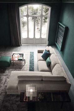 Angel modern ülőgarnitúra - www. Living Room Sofa Design, Home Room Design, Living Room Color Schemes, Living Room Decor, Furniture Upholstery, Furniture Design, Modern Sofa Designs, Sala Grande, Lounge Suites