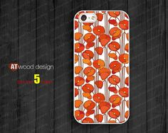 IPhone 5 case red poppy flower graphic  iphone 5 by Atwoodting, $7.99