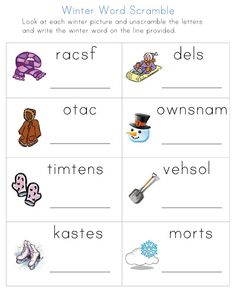 Winter Worksheets from All Kids Network - - Pinned by #PediaStaff.  Visit http://ht.ly/63sNt for all our pediatric therapy pins