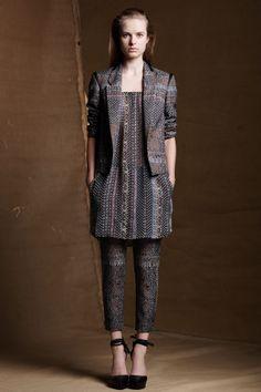 Antonia Damask Jacket/ Antonia Chiffon Shirt Slip/ Antonia Damask Pant