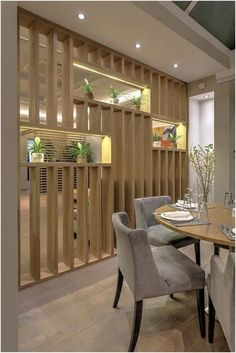View full picture gallery of Restaurant-Bar,Mezza … – … - Raumteiler ideen Wood Partition, Living Room Partition Design, Living Room Divider, Room Partition Designs, Living Room Interior, Room Partition Wall, Partition Ideas, Living Rooms, Restaurant Bar
