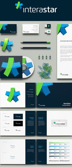 Interastar chose bright colours for their identity and carried it all the way through their branding. A great example of establishing your company's identity. #corporateidentity