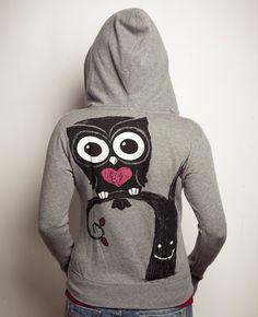 Night Owl (Women Fleece Hoodie) - Akumu Ink Clothing