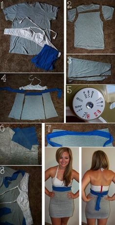 How to Turn a T-shirt into a Dress – DIY