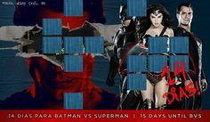 """""""14 dias para Batman vs Superman: A Origem da Justiça // 15 days until #BatmanvSuperman!  #TeamSuperman #BvS #HenryCavill #superman #aorigemdajustiça…"""""""