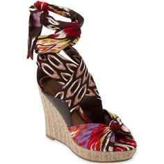 23814e1167b2 a® Diane Wedge Sandals with Scarf Straps - jcpenney