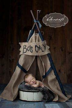 LUKE teepee for kids burlap with denim by SugarShacksTeepee