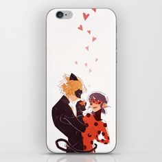 Miraculous Love Phone Skin ~ $15 ~ Ladybug and Cat Noir Accessories!