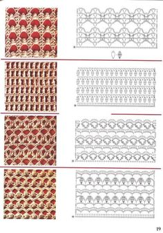 View album on Yandex. Crochet Stitches Chart, Dishcloth Knitting Patterns, Crochet Diagram, Crochet Motif, Crochet Designs, Free Crochet, Lace Patterns, Stitch Patterns, Crochet Patterns