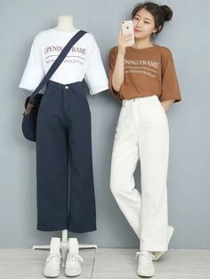 30 Fashion Outfits Teenage korean For Your Perfect Look This Summer korean fashion Korean Fashion Dress, Korean Fashion Kpop, Kpop Fashion Outfits, Ulzzang Fashion, Grunge Outfits, Asian Fashion, Look Fashion, Korea Fashion, Casual Outfits