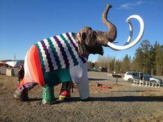 URBAN KNITTING BILBAO: Yarn Bombing Ice-Age