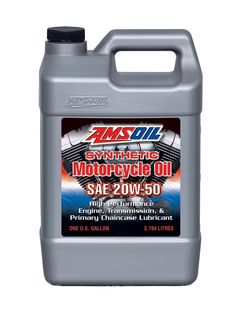 AMSOIL 20W-50 Synthetic Motorcycle Oil - See more AMSOIL products at http://shop.haldimandsyntheticoil.ca/motor-oil/motorcycle/20w-50-advanced-synthetic-motorcycle-oil/