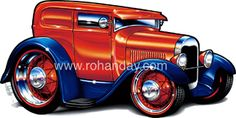 Muscle Machines Cartoon Drawings | 1928 Ford Sedan Delivery