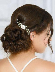 Freshwater Keshi Pearl Bridal Hair Comb