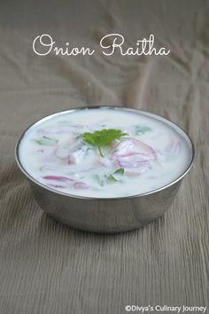 Onion Raitha-Healthy and refreshing Yogurt dip with onion.
