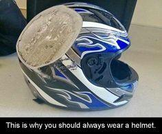 Helmets saves lives