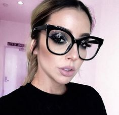 Eyeglass Frames Miss Gorgeous Women Eyeglasses Cat Eye Clear Lens Shadz Glasses Oversized Cute Glasses, Girls With Glasses, Big Glasses Frames, Fashion Eye Glasses, Cat Eye Glasses, Oversized Glasses, Eyeglasses Frames For Women, Womens Glasses, E Bay