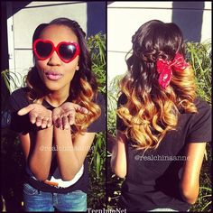 China Anne McClain ombre hair | OMG!! China Anne McClain had us rolling over in the floor laughing ...
