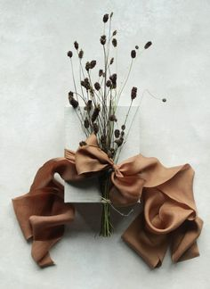 Copper Rose, Copper Color, Wedding Gift Wrapping, Wedding Gifts, Silk And Willow, Gift Wraping, Silk Ribbon, Gift Packaging, Diy Art