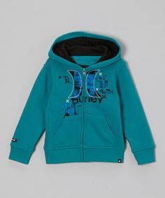 Take a look at this Blue Zip-Up Hoodie - Toddler & Boys by Hurley on #zulily today!