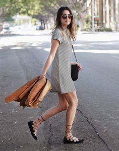 brittany xavier look t-shirt dress lace up