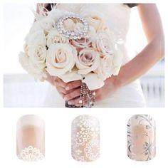 Wedding manicure - Spring/Summer 2015 #jamberry Shop & order at Jlohrmann.jamberrynails.net