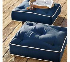 Outdoor floor cushions   Patio decor ideas   Pinterest