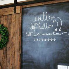 + Best Ideas about Summer Chalkboard Summer Chalkboard Art, Chalkboard Wall Art, Chalkboard Doodles, Chalkboard Writing, Kitchen Chalkboard, Chalk Wall, Chalkboard Drawings, Chalkboard Lettering, Chalkboard Designs