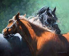 Horse painting by Judi Kent Pyrah