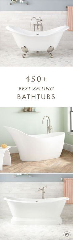 Spa-like comfort awaits in your bathroom remodel with one of these 450+ Best Selling Bath Tubs from Signature Hardware. This collection of stylish inspiration is sure to be the focal point of your master bath.