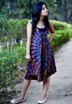 Short Dresses – Fashion Women Summer Loose Casual Short Dresses – a unique product by IndianCraftPalace on DaWanda