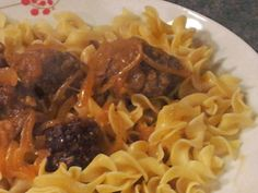 Cheese Curd In Paradise: Gingerbread Spiced Meatballs with Onion Ale Gravy