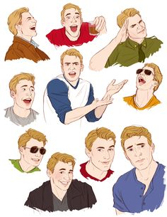illustratedkate: imagine if steve rogers pulled all of the fantastically weird faces chris evans pulls on a daily basis… now that's a world i want to live in!