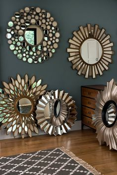 Unbelievable Round Wall Mirror Vanities Ideas Dumbfounding Tips: Modern Wall Mirror Apartment Therapy long wall mirror gold.Wall Mirror Design Bathroom Makeovers decorative wall mirror h Cheap Wall Mirrors, Wall Mirrors Entryway, Lighted Wall Mirror, Round Wall Mirror, Living Room Mirrors, Mirror Bathroom, Mirror Vanity, Bathroom Storage, Sunburst Mirror