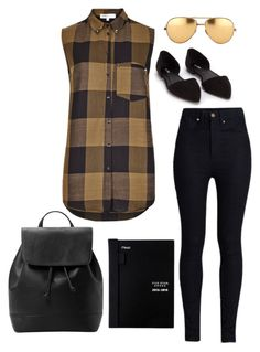 """""""Back to Campus"""" by bncollege on Polyvore featuring Rodarte, Nly Shoes, Linda Farrow and MANGO"""