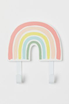 Krok i metall og tre - Naturhvit/Regnbue - Home All White Rainbow, Rainbow Art, Rainbow Room Kids, Rainbow Bedroom, Rainbow Nursery, H & M Home, Suspension Metal, Natural Playground, Playground Ideas