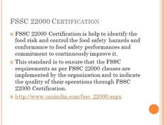 The FSSC 22000 requirements are independently audited by URS to ensure that the FSSC certification requirements are met. URS is accredited by UKAS for #FSSC22000certification scheme.