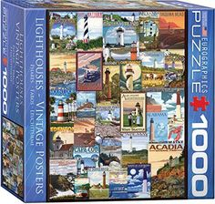 EuroGraphics Lighthouses Vintage Ads Small Box Puzzle (1000 Pieces)