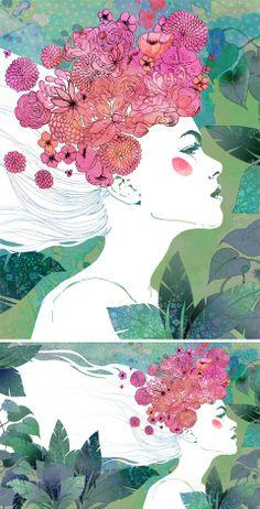 Marie Claire China magazine / Anne Cresci + Colagene, illustration clinic