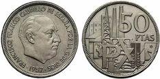 "25 pesetas conmemorativas de los ""XXV Anos de Paz"", Sin Circular. Salida en 27.500 euros European History, Silver Coins, Old And New, Nostalgia, Copper, Retro, Vintage, Showroom, Madrid"