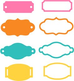 Silhouette Design Store - View Design #24109: label tag frame